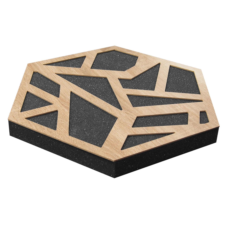 Panel akustyczny HoneyFoamPRO - absorber piankowy w kształcie plastra miodu