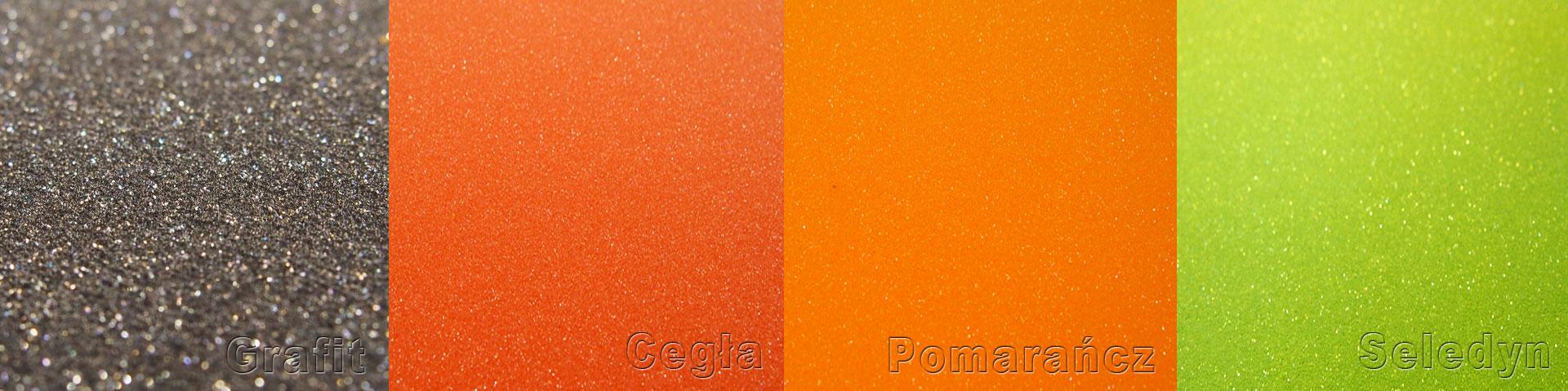 Zdjęcie kolorów pianek poliuretanowych z naszej oferty.